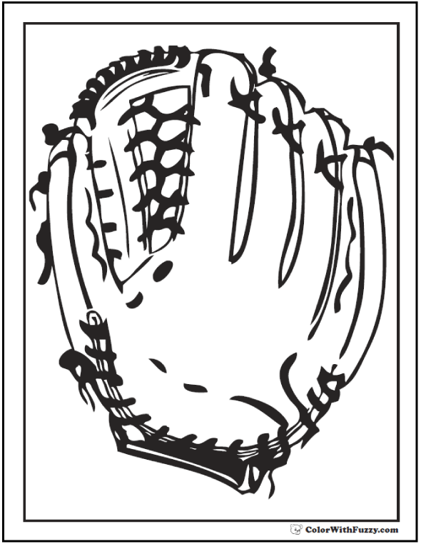 baseball glove coloring page baseball coloring pages customize and print pdfs glove page baseball coloring