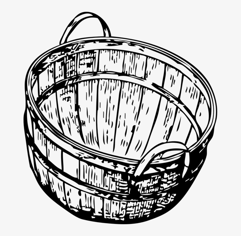 basket drawing collection of laundry basket clipart free download best drawing basket