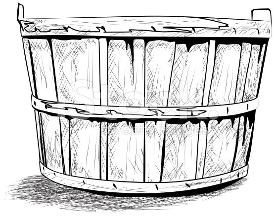 basket drawing hand drawn bushel basket with images basket drawing drawing basket