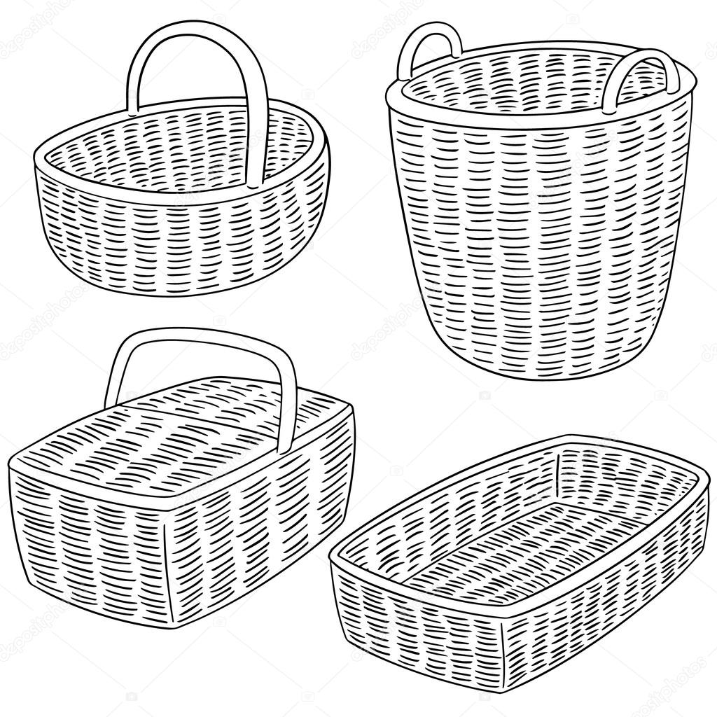 basket drawing onlinelabels clip art basket drawing basket