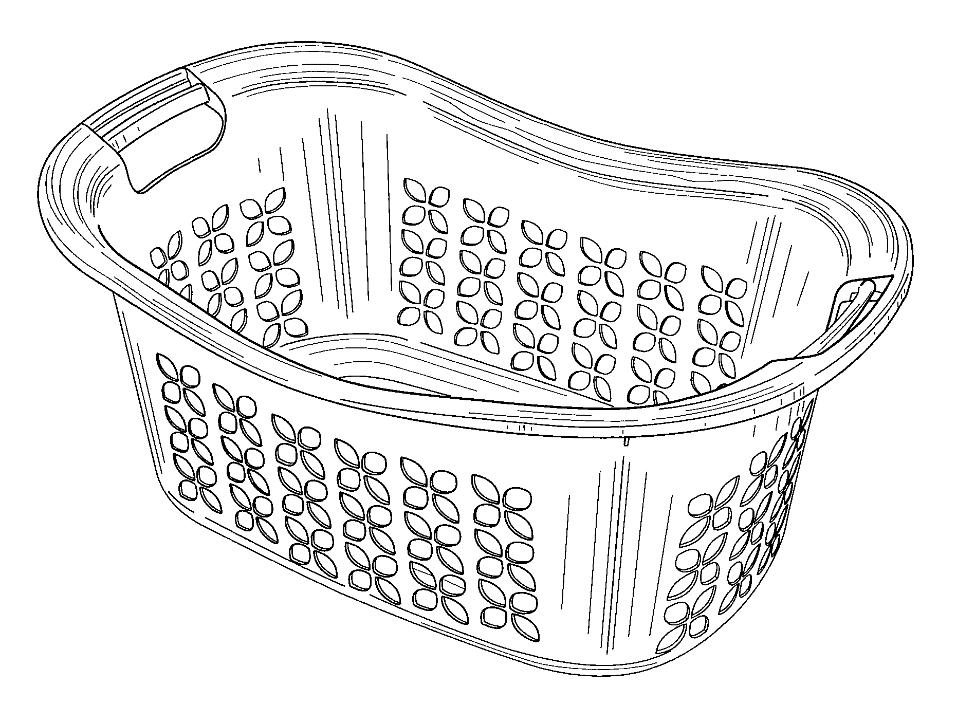 basket drawing patent usd584020 laundry basket google patents basket drawing