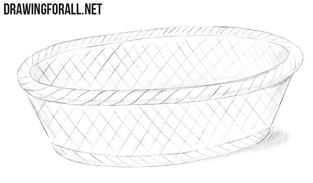 basket drawing picnic basket clip art at clkercom vector clip art drawing basket