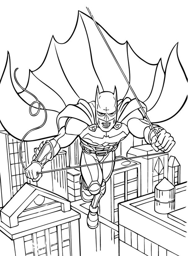 batman pictures for kids batman is looking at his enemies from above coloring page batman pictures for kids