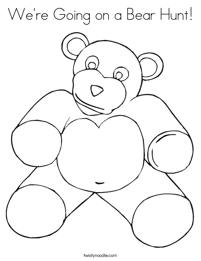 bear hunt colouring bear returns to his cave coloring page free printable bear hunt colouring
