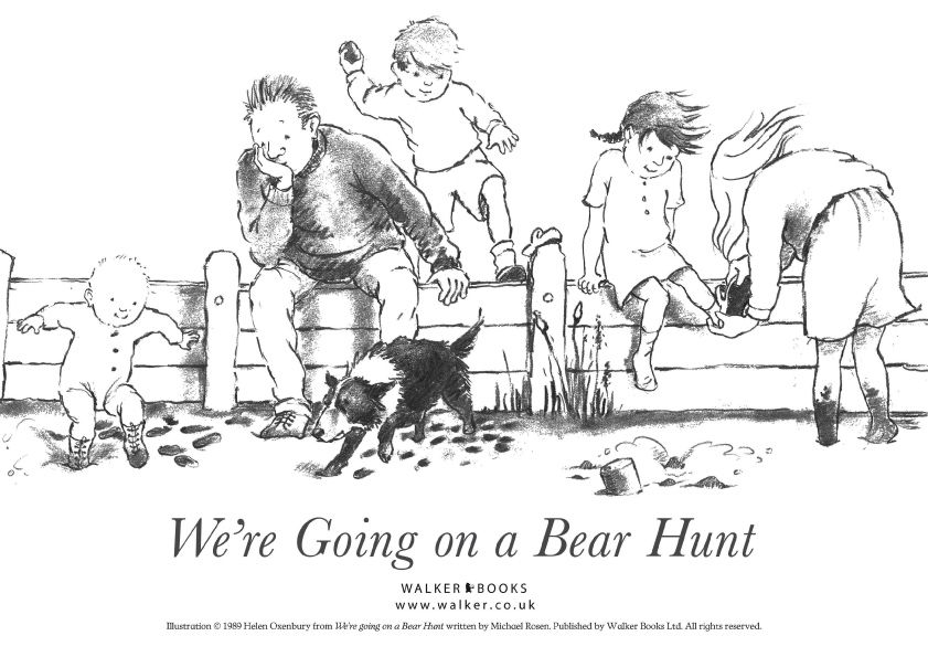 bear hunt colouring we39re going on a bear hunt story teaching resources sack hunt colouring bear