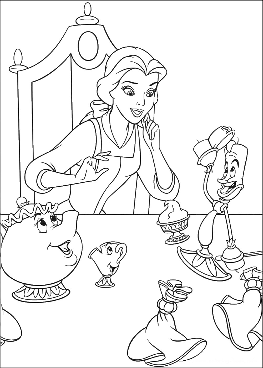 beauty and the beast colouring page beauty and beast coloring page 14 coloringcolorcom beauty page the beast and colouring