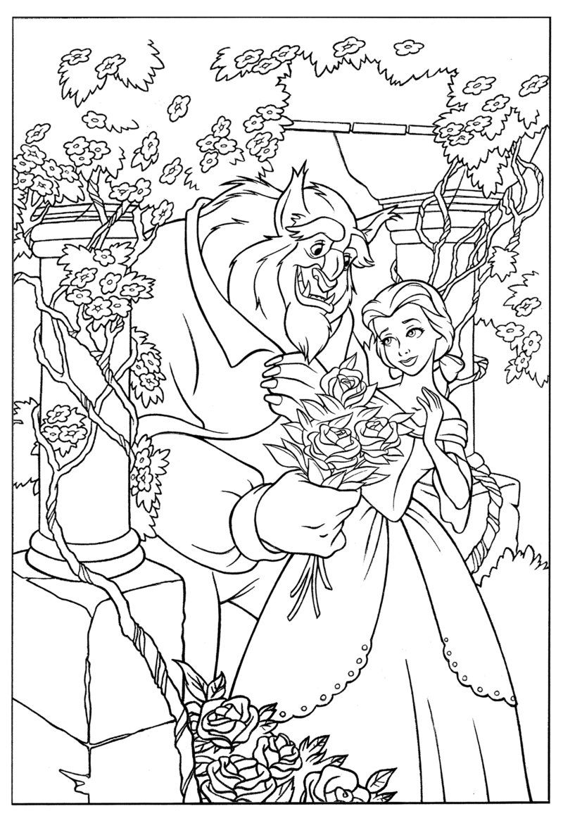 beauty and the beast colouring page beauty and beast coloring pages at getcoloringscom free the beast page colouring and beauty
