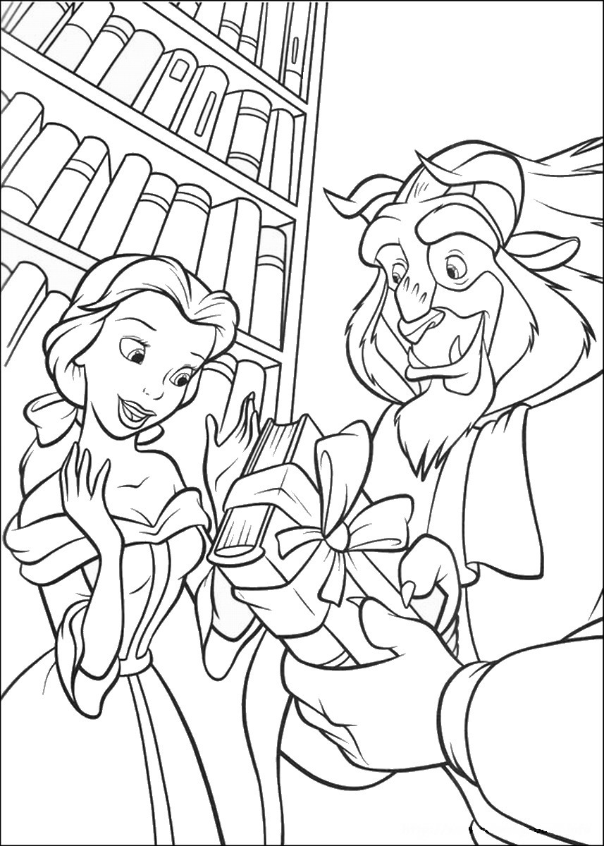 beauty and the beast colouring page beauty and the beast coloring book coloring home page beauty and beast colouring the