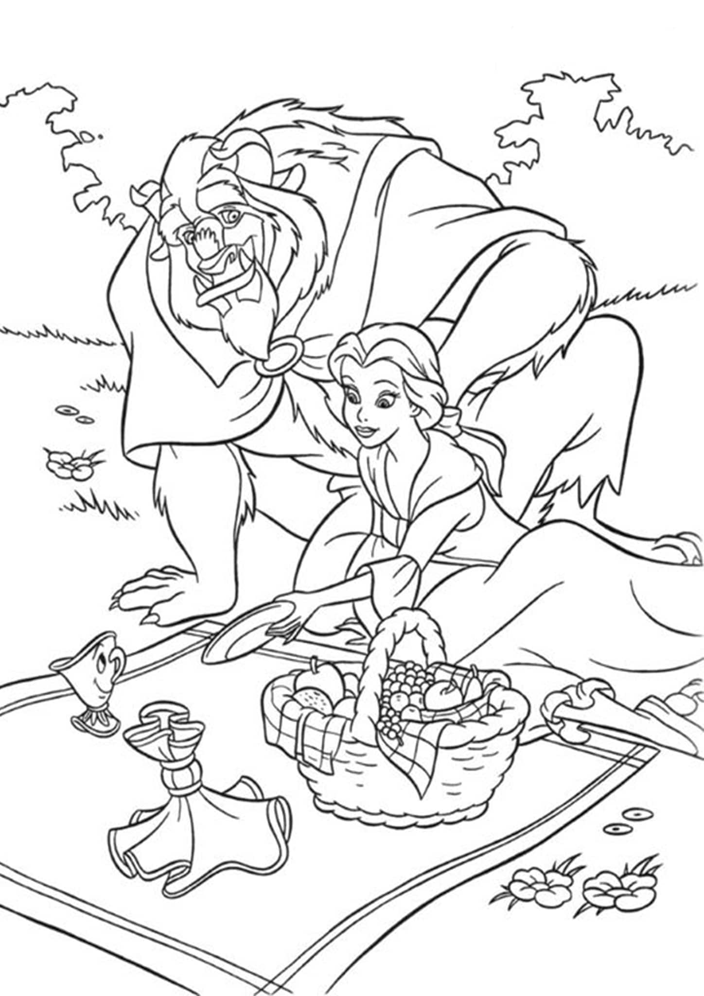 beauty and the beast colouring page beauty and the beast coloring pages 2 disneyclipscom beast colouring beauty page the and
