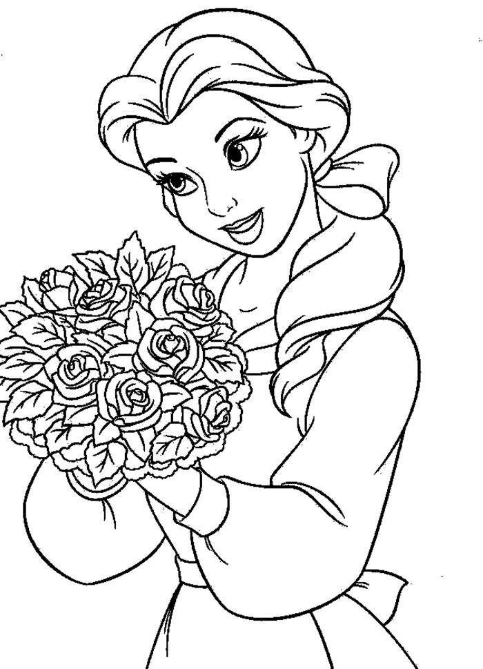 beauty and the beast colouring page beauty and the beast coloring pages beast the colouring beauty page and