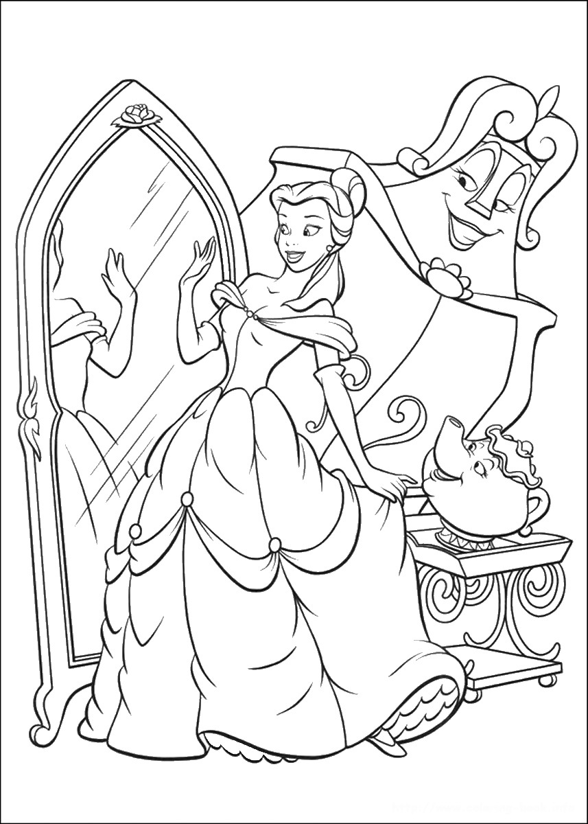 beauty and the beast colouring page beauty and the beast coloring pages page the beauty colouring beast and