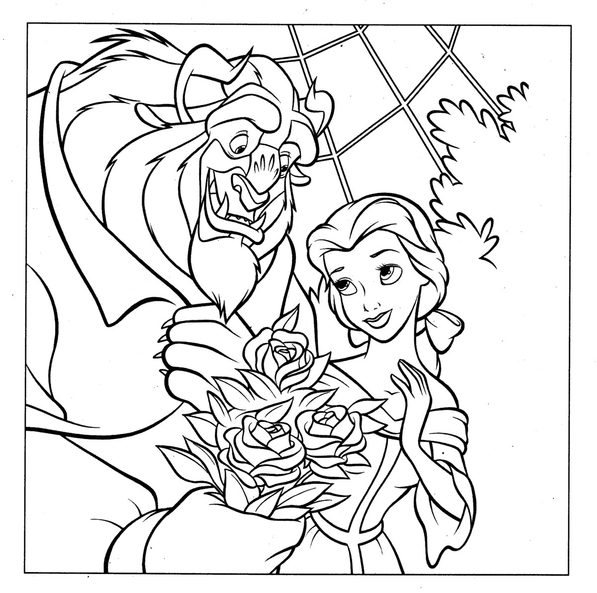 beauty and the beast colouring page beauty and the beast coloringcolorcom the beauty page colouring beast and
