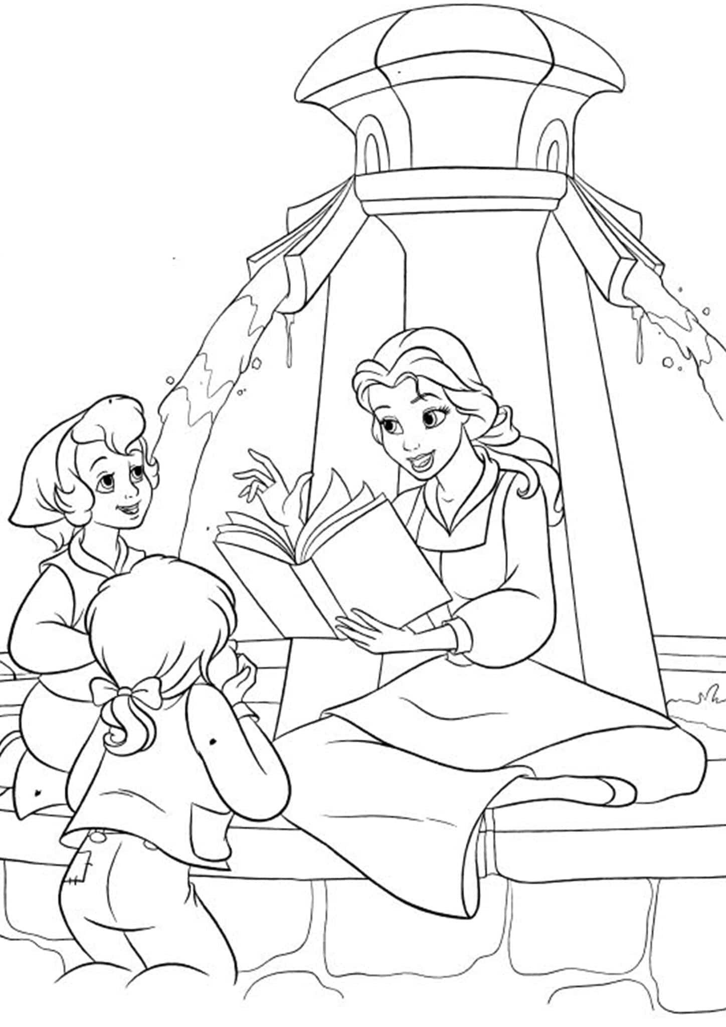 beauty and the beast colouring page coloring pages beauty and the beast coloring home beauty page beast colouring and the