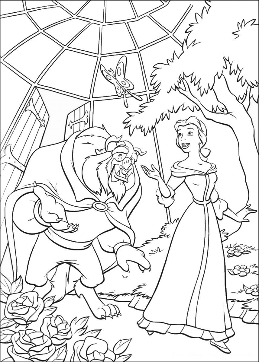beauty and the beast colouring page walt disney coloring pages princess belle the beast colouring page beast the and beauty