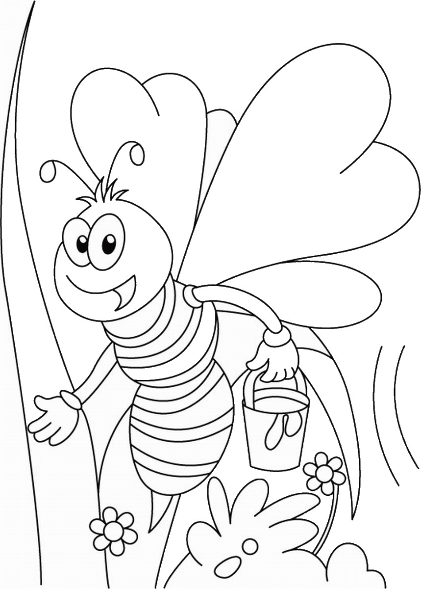 bees colouring pages bee coloring pages colouring bees pages