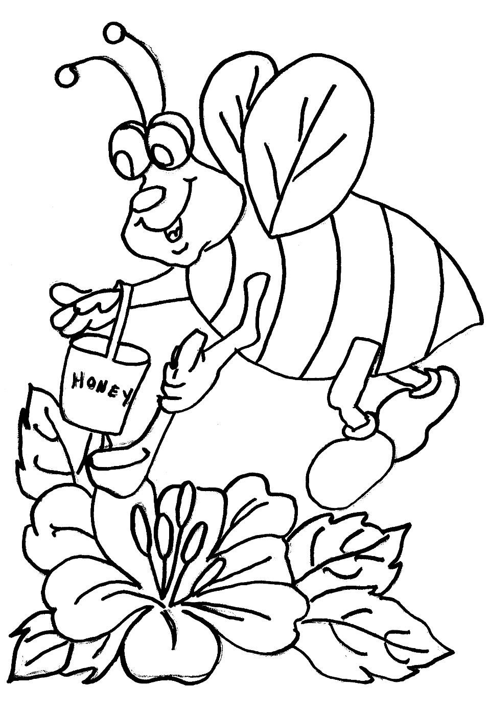 bees colouring pages bee coloring pages for kids preschool and kindergarten bees pages colouring