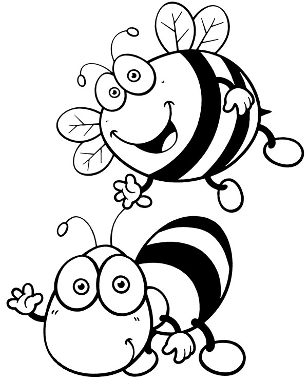bees colouring pages free printable bee coloring pages for kids colouring bees pages