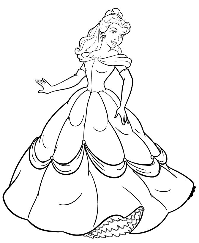 belle coloring pages free disney princess belle and her gown coloring sheet belle pages free coloring