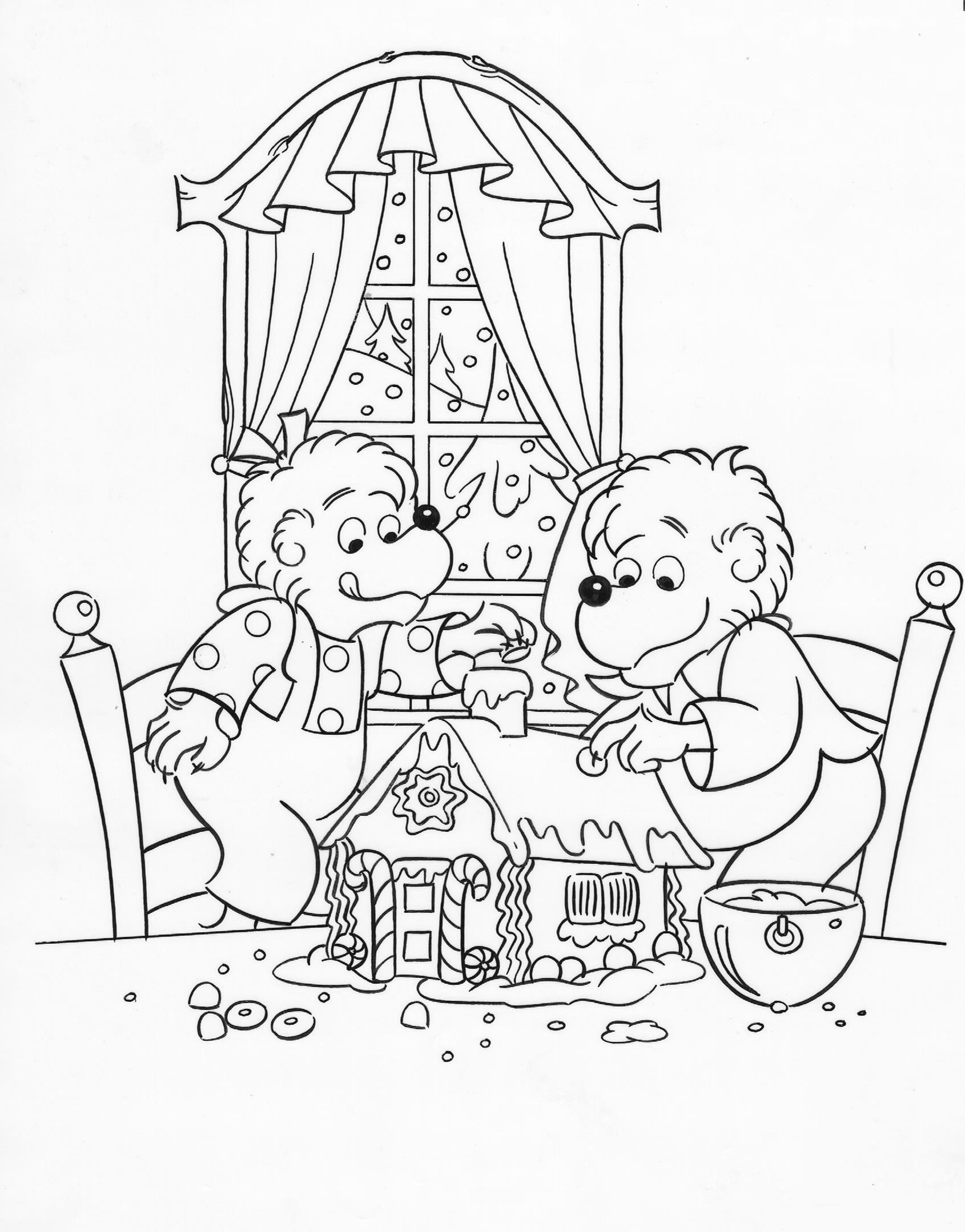 berenstain bears coloring pages berenstain bears halloween coloring pages coloring home pages bears coloring berenstain