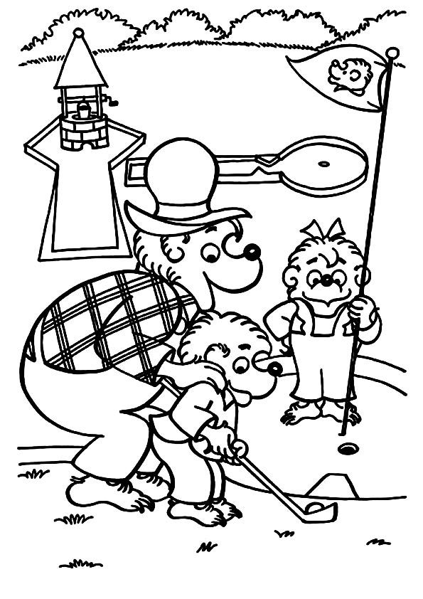 berenstain bears coloring pages brother and sister berenstain bear take teddy bear play bears berenstain coloring pages
