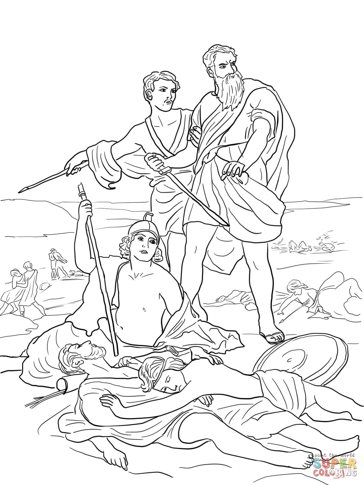 bible coloring pages king saul saul anointed with images coloring pages bible class bible king pages coloring saul