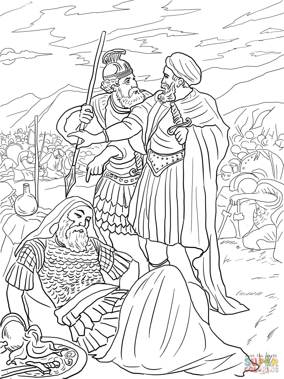 bible coloring pages king saul the first king of israel is king saul coloring page netart coloring saul pages king bible