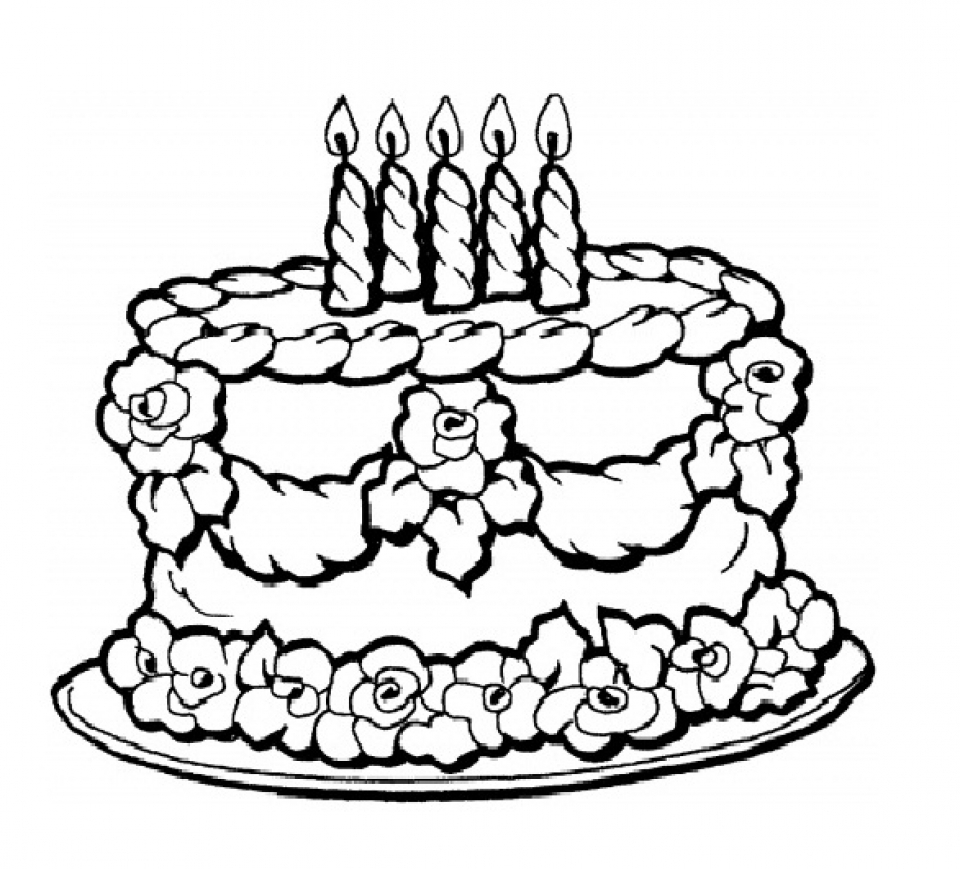 birthday cake printable free easy to print cake coloring pages in 2020 printable birthday cake
