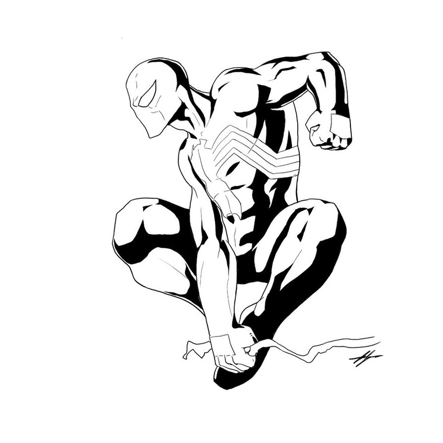 black spiderman coloring baby spiderman coloring pages at getcoloringscom free black coloring spiderman