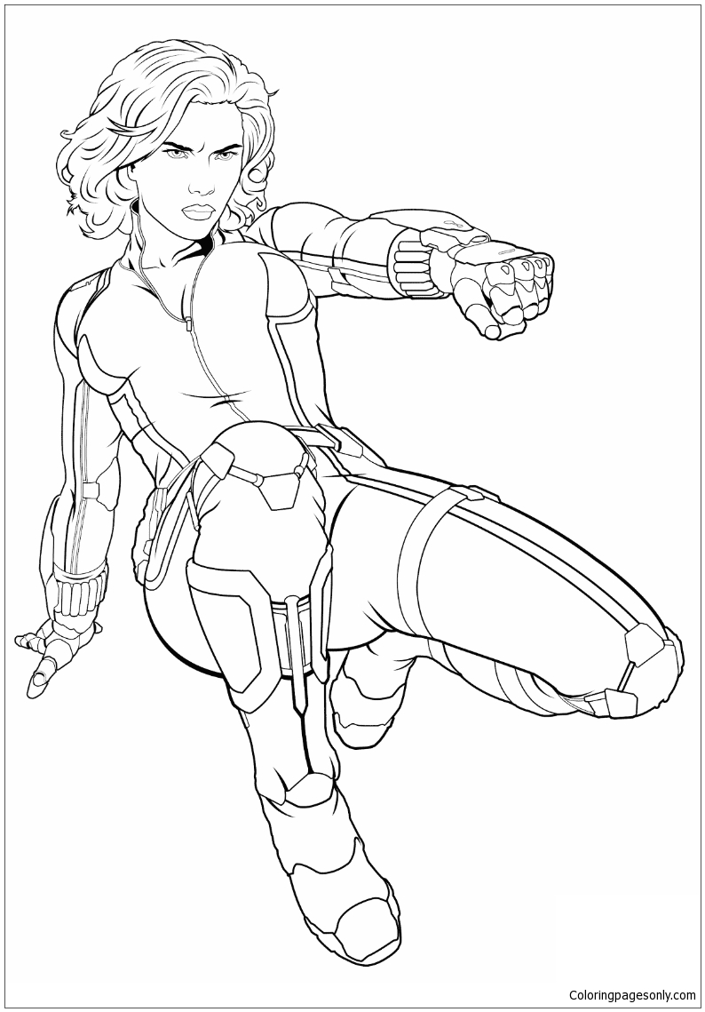 black widow avengers coloring pages avengers coloring pages free printable avengers coloring widow black pages avengers coloring