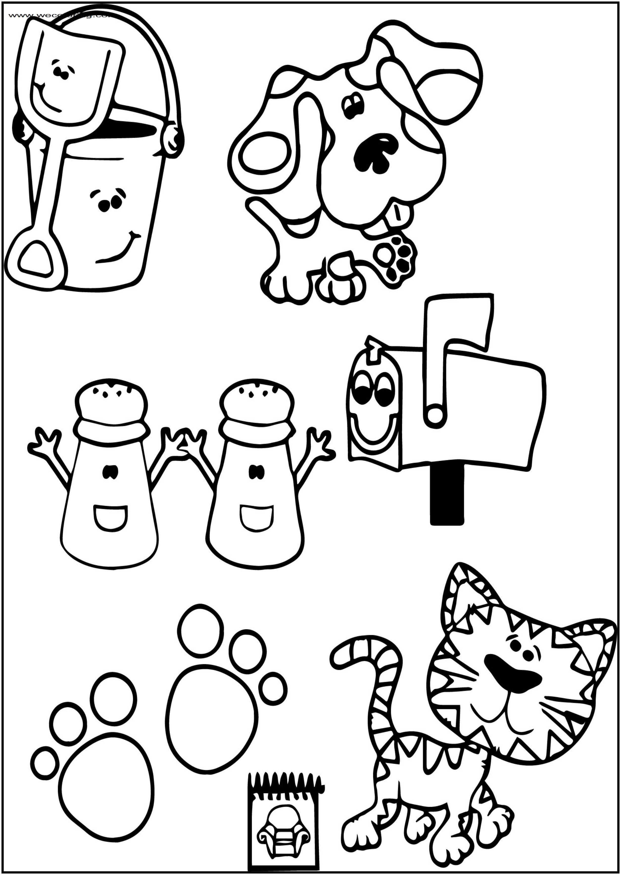 blues clues coloring pages awesome blue39s clues man coloring page coloring pages pages clues coloring blues