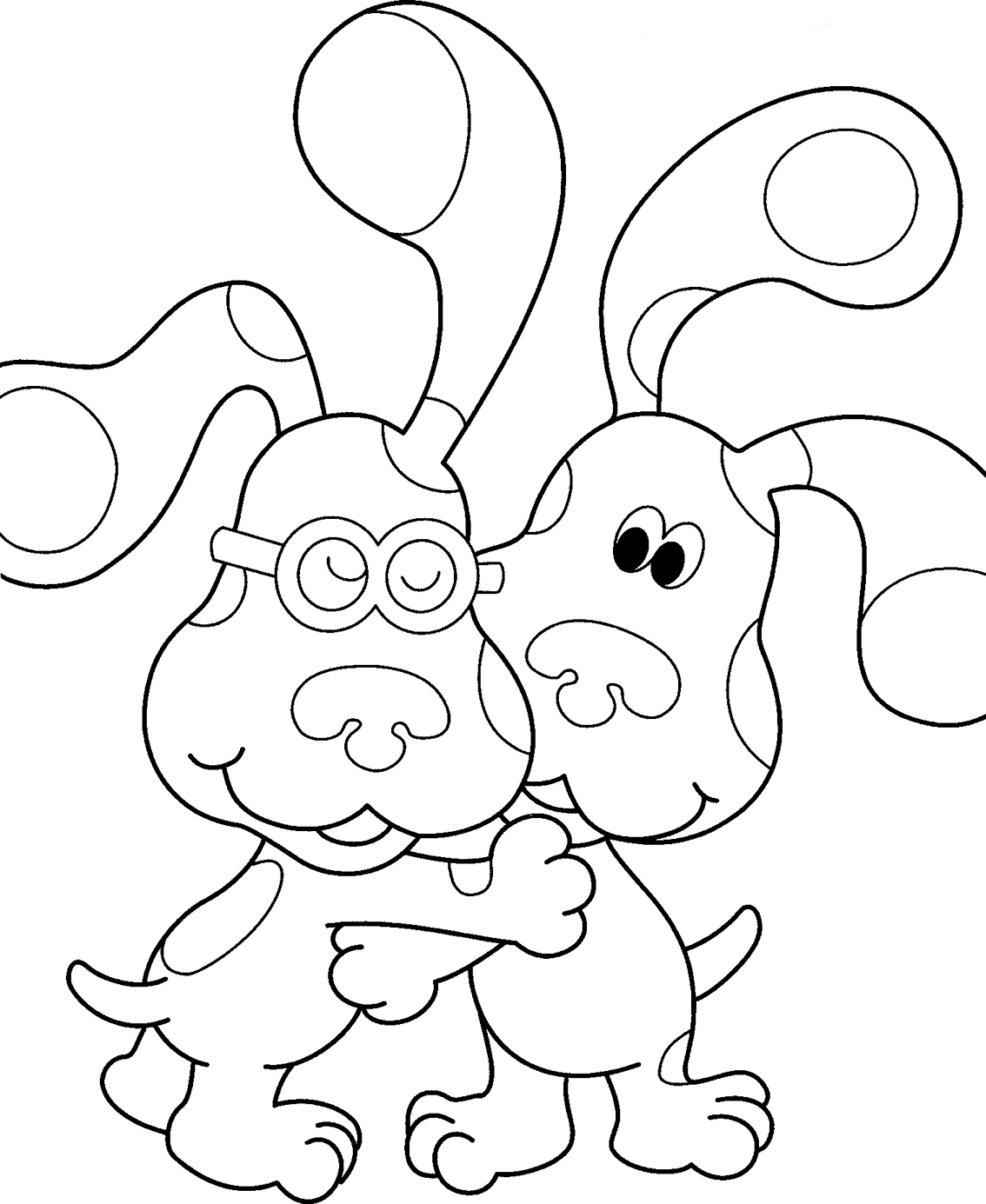 blues clues coloring pages blues clues drawing at getdrawings free download blues clues coloring pages