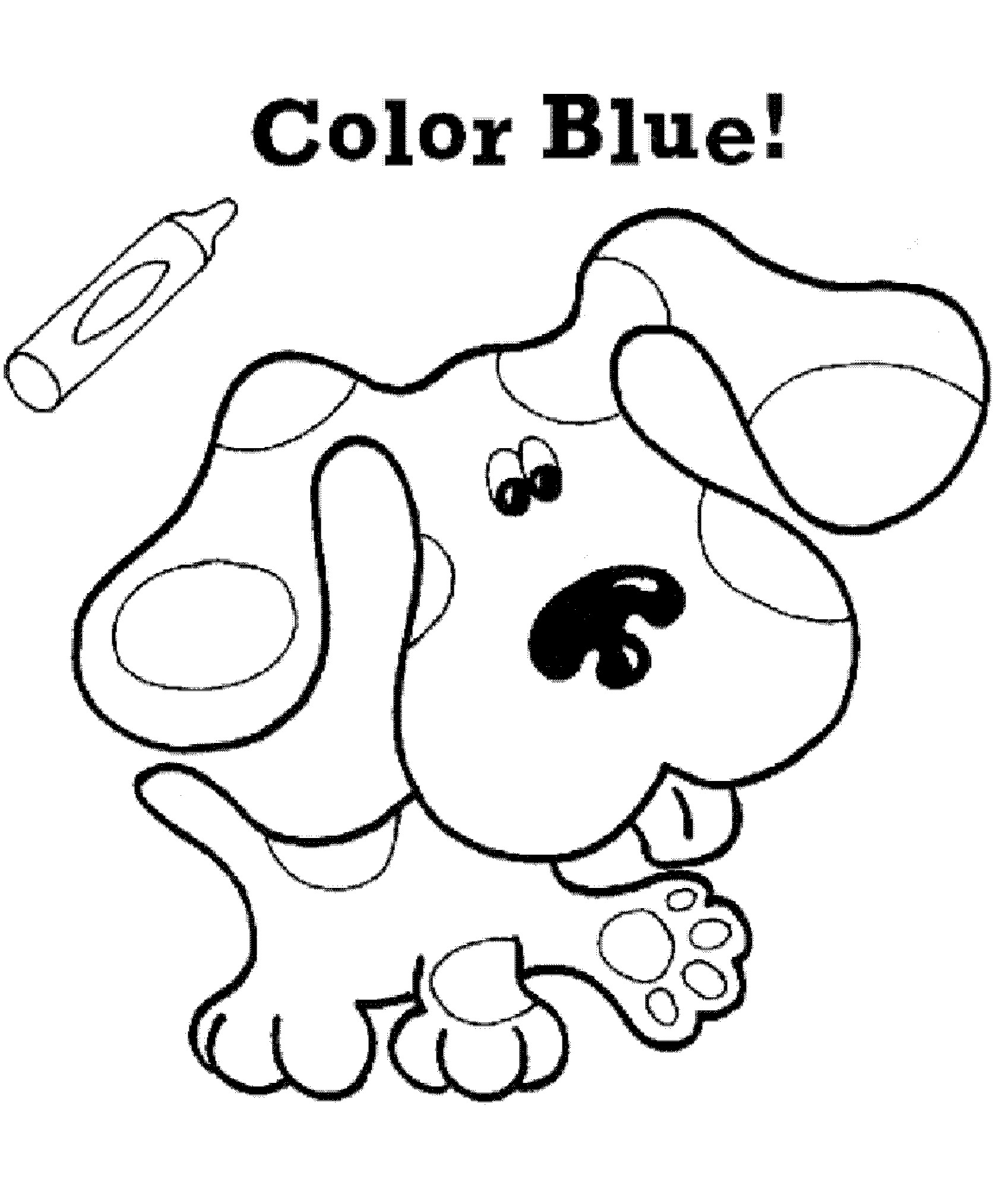 blues clues coloring pages free printable blues clues coloring pages for kids blues pages coloring clues