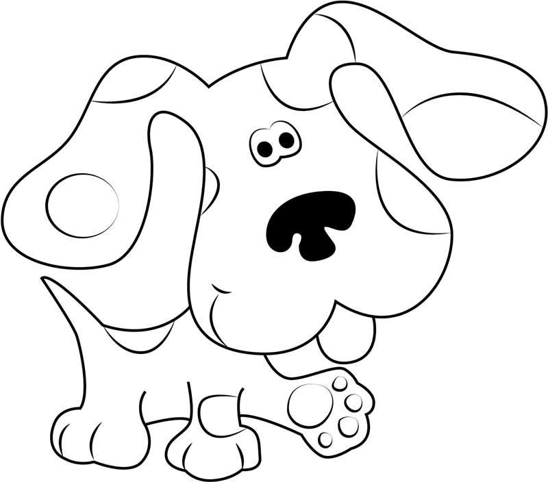 blues clues coloring pages free printable blues clues coloring pages for kids coloring pages blues clues