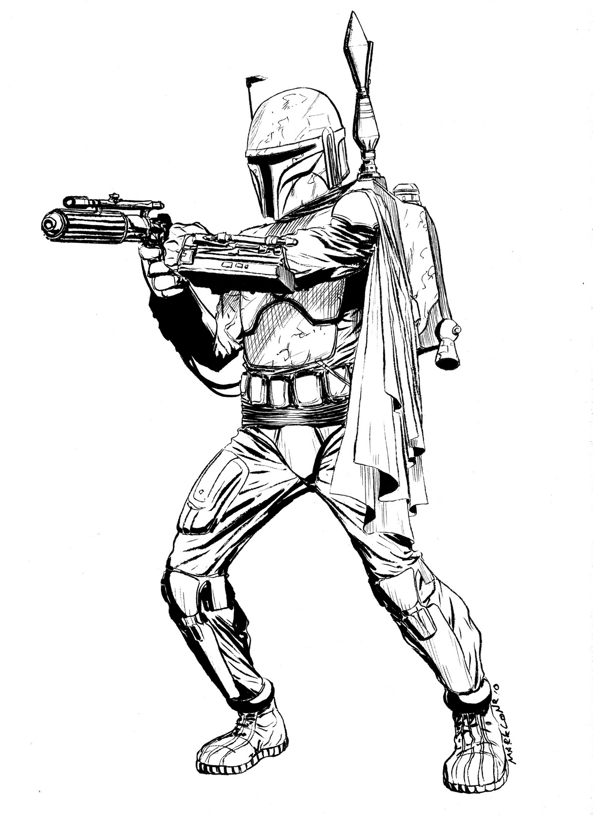 boba fett coloring pages the art of mark lone lineart gt color fett pages boba coloring