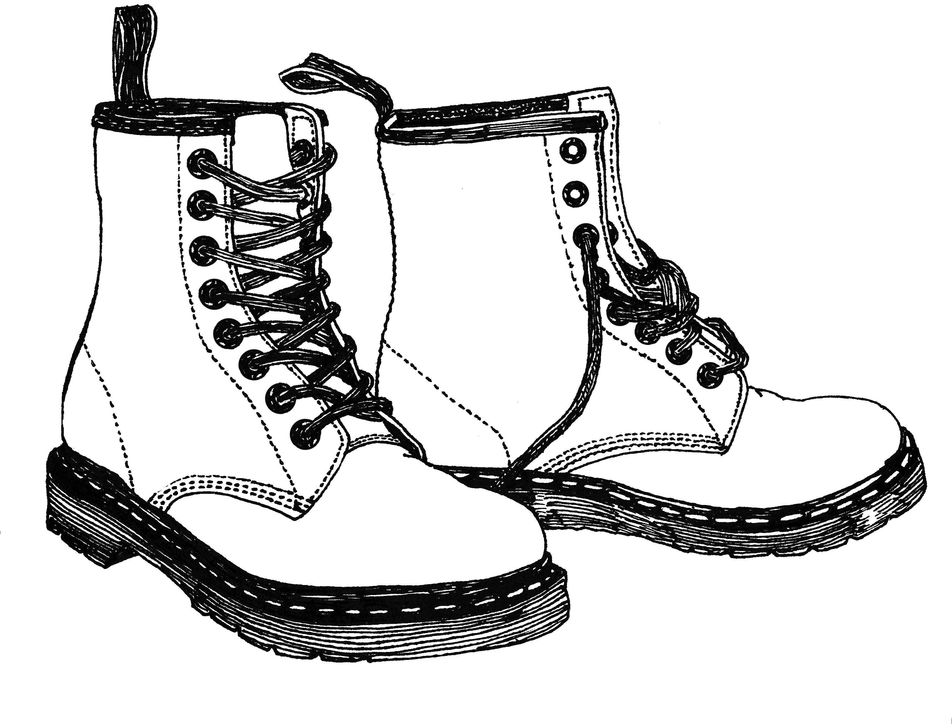 boot draw hiking boots drawing at paintingvalleycom explore draw boot