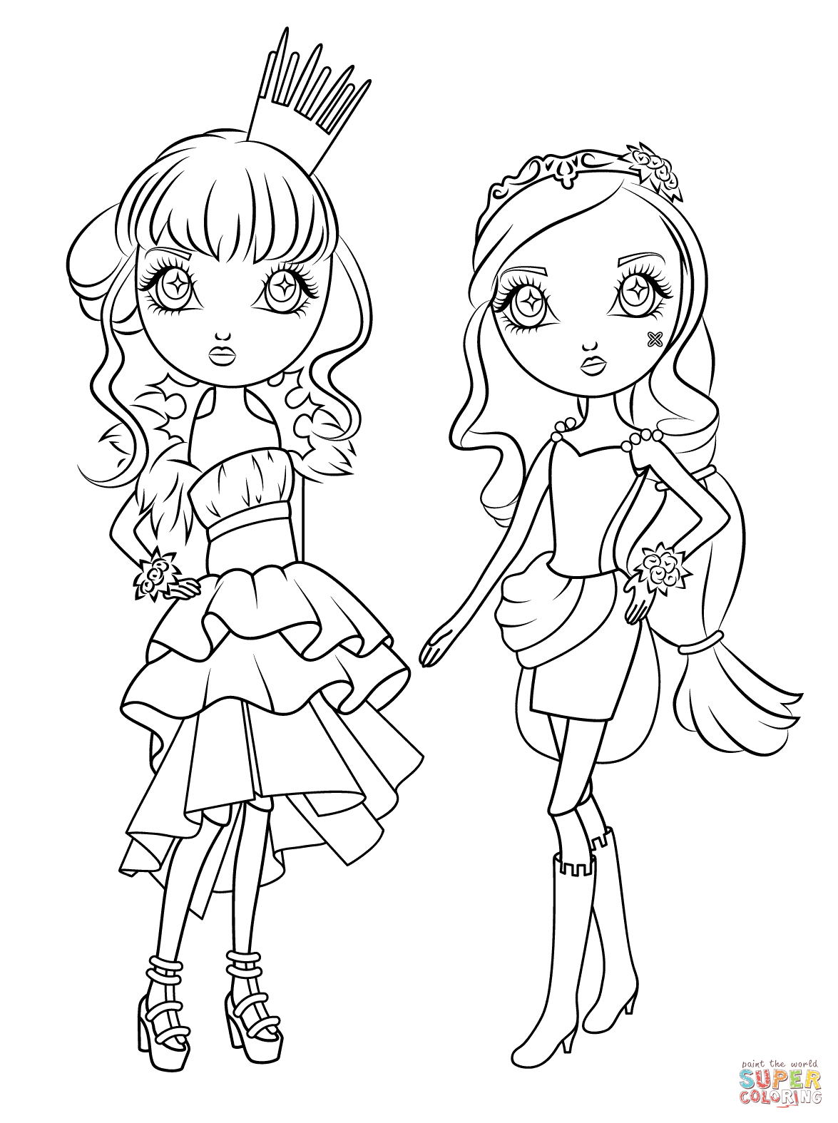 boxy girls coloring pages candy box chibi redraw by yampuff on deviantart free pages boxy coloring girls
