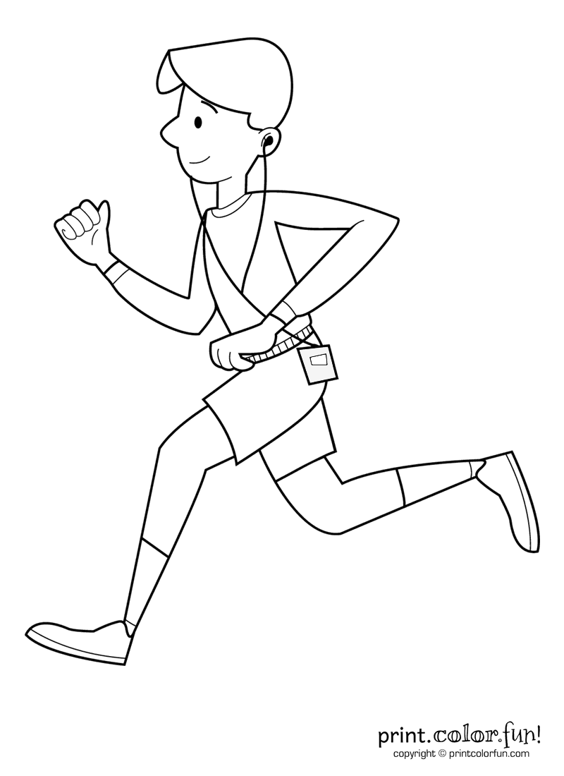boy running coloring page nice boy running school outline coloring page cute easy boy coloring running page