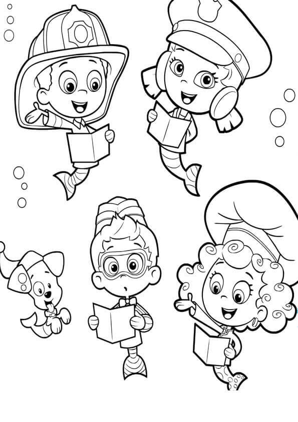 bubble guppies coloring sheet black and white mona lisa clipartsco bubble guppies sheet coloring