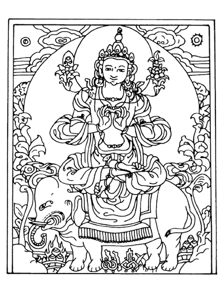 buddhist coloring pages buddha representation in tibetan buddhism tibet adult coloring pages buddhist