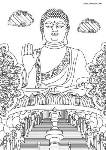 buddhist coloring pages buddhism coloring pages learny kids buddhist coloring pages