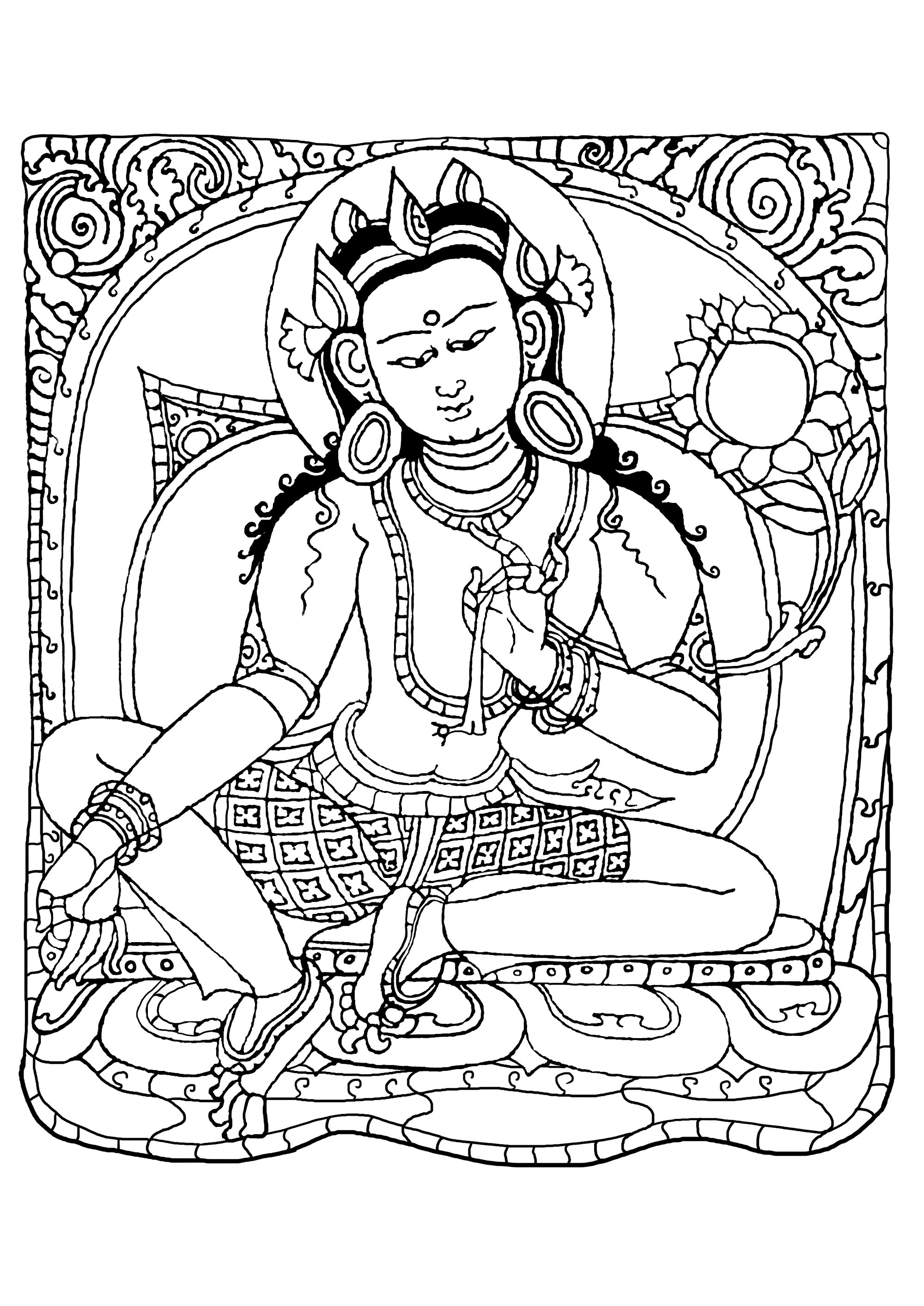 buddhist coloring pages freeprintable budhism coloring pages buddhist pages coloring