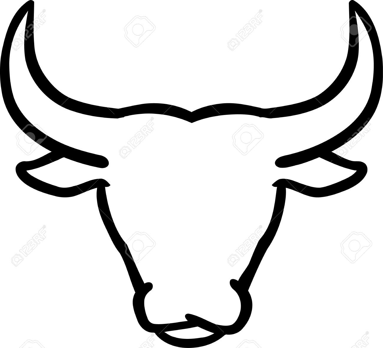 bull outline logo the head of a pit bull with a chain stock vector outline logo bull