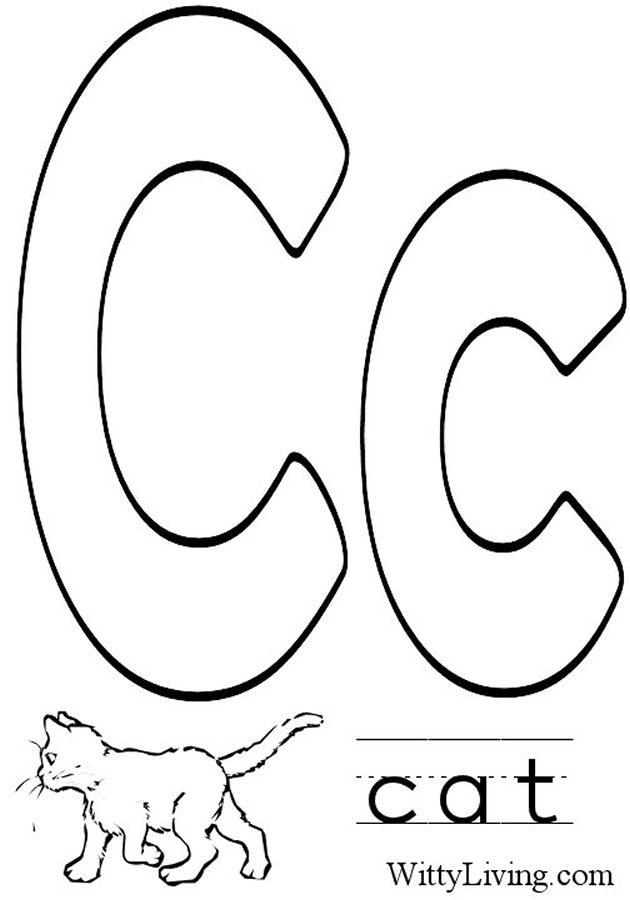 c coloring page free letter c printable coloring pages for preschool page c coloring