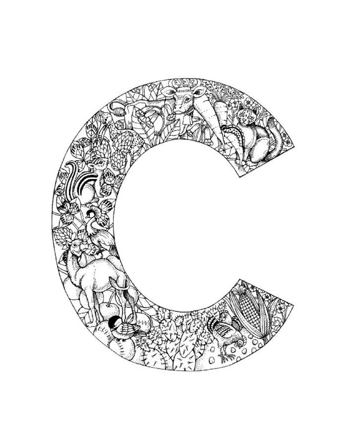c coloring page my a to z coloring book letter c coloring page alphabet c coloring page