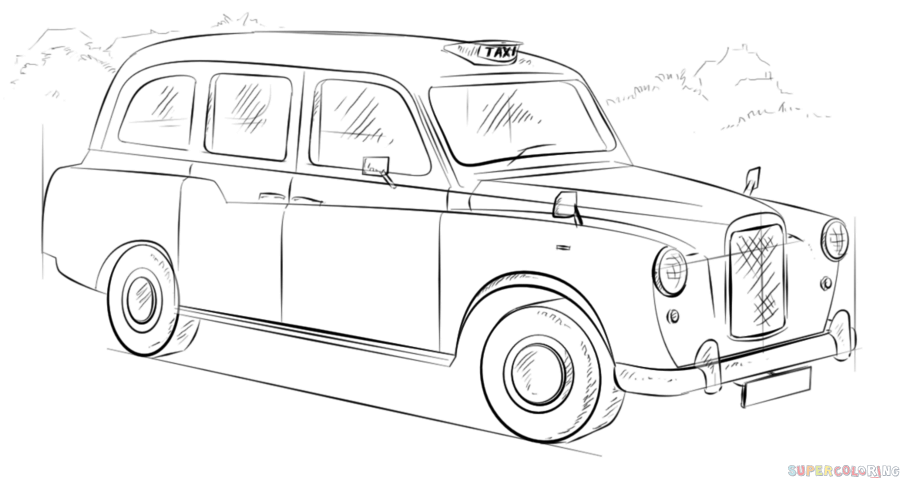 cab drawing comment dessiner un taxi anglais blog taxifun taxis cab drawing