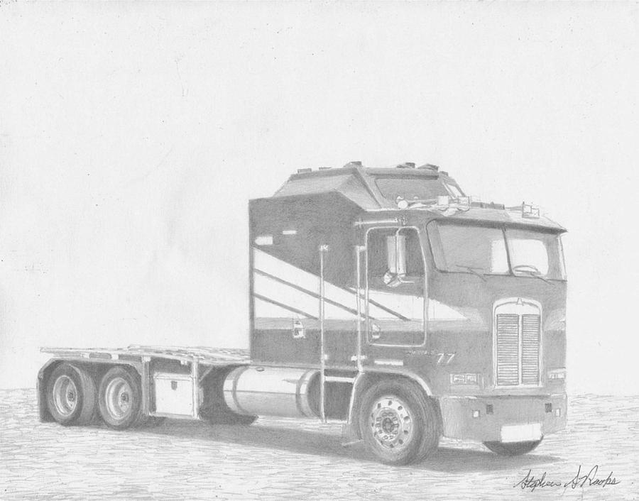 cab drawing kenworth sketch at paintingvalleycom explore collection cab drawing
