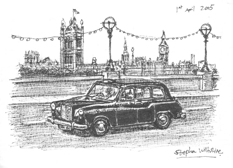 cab drawing london taxi original drawings prints and limited cab drawing
