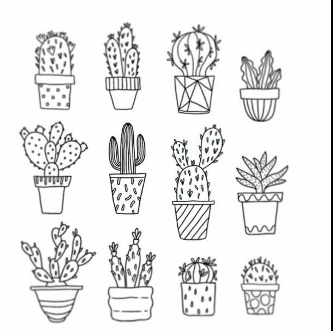cactus drawing cactus drawing outline at paintingvalleycom explore cactus drawing