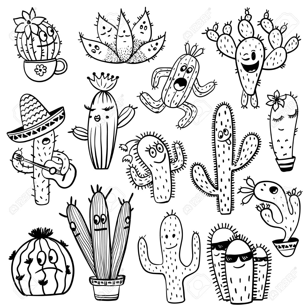 cactus drawing peanut cactus illustration drawing engraving ink line art cactus drawing