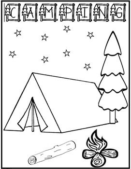 camping coloring pages for preschoolers 73 best images about camping coloring pages on pinterest camping coloring preschoolers pages for